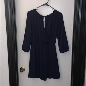 Lush Navy 3/4 Sleeve Dress in Size Large